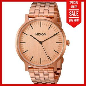 🔴NEW NIXON Men's Rose gold Porter water resistant